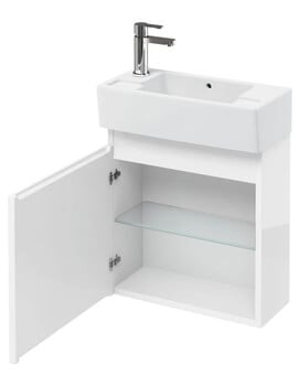Britton Compact 250mm Wall Hung Unit With Left Hand Basin