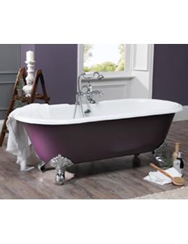 Silverdale Rosamund Dual Roll Top Bath 1700 x 780mm With Primed Feet