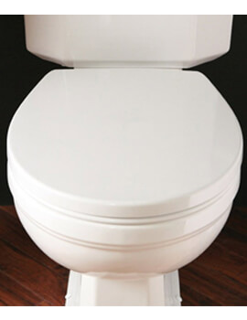 Silverdale Acrylic White Soft Close Luxury WC Seat