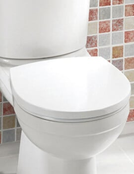 Silverdale Thames White Toilet Seat With Chrome Hinges