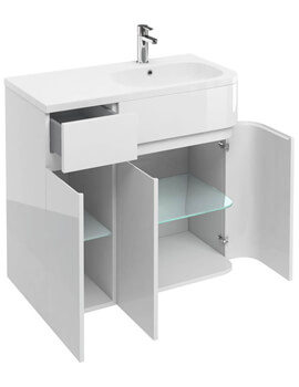 Britton D45 Arc 900mm Right Hand Cabinet With Quattrocast Basin