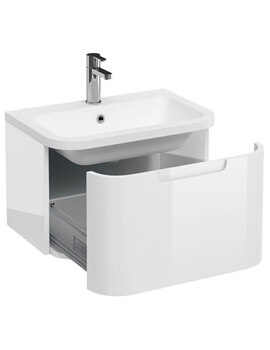Britton Compact Single Drawer Vanity Unit With Basin