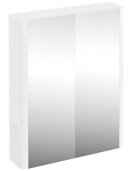 Britton Compact 600mm Double Mirrored Door Cabinet