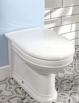 Silverdale Damea White Soft Close Seat With Chrome Hinges