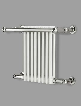 Reina Camden 680 x 508mm  White And Chrome Wall Mounted Traditional Radiator