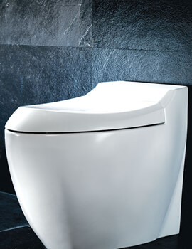 Silverdale Windsor White Soft Close Toilet Seat With Chrome Hinges