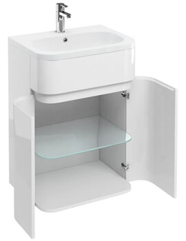 Britton D45 600mm Gullwing Cabinet With 600mm Quattrocast Basin