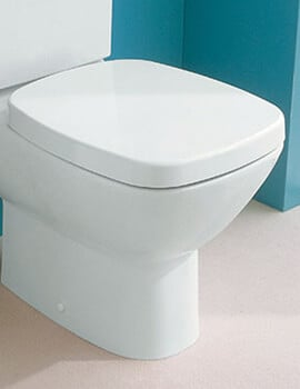 Silverdale Ascot White Soft Close Toilet Seat With Chrome Hinges