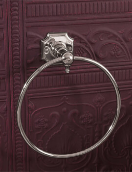 Silverdale Victorian Towel Ring Chrome