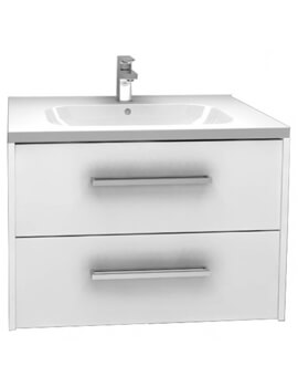 Puro Arco Wall Mounted Double Drawer Storage Cabinet With Basin