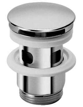 Saneux Open Outlet Chrome Finish Draining Waste