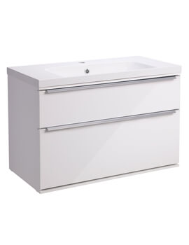 Roper Rhodes Scheme 800mm Gloss White Wall Mounted Vanity Unit
