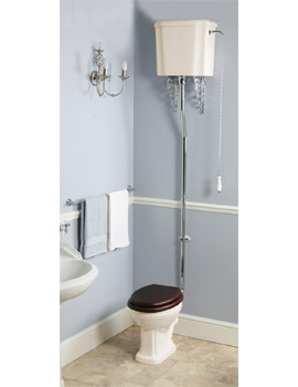 Silverdale Balasani 430 x 665mm Old English White High Level WC With Cistern