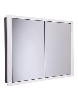 Roper Rhodes Scheme 1040 x 75mm White Recessed Cabinet For Stud Wall