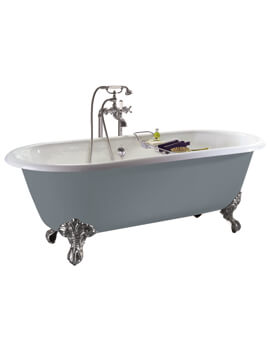 Heritage Baby Buckingham Freestanding Cast Iron Roll Top Bath With Feet
