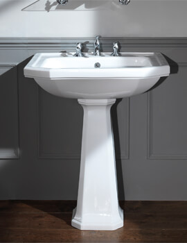 Silverdale Empire 700x 530mm White 3 Taphole Basin