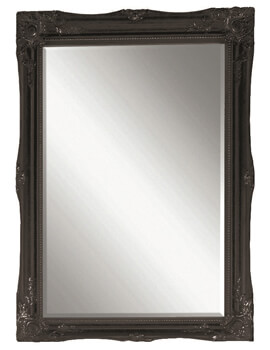 Heritage Balham 660 x 910mm Onyx Black Wooden Framed Mirror