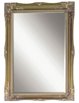 Heritage Balham 660 x 910mm Antique Gold Wooden Framed Mirror