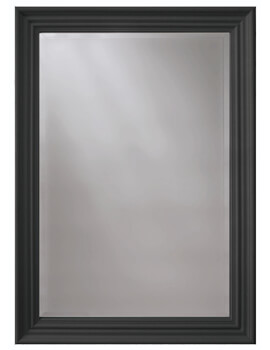 Heritage Edgeware 660 x 910mm Onyx Black Wooden Framed Mirror
