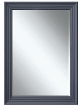 Heritage Edgeware 660 x 910mm Slate Grey Wooden Framed Mirror