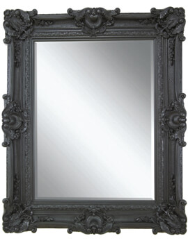Heritage Chesham Grand 1420 x 2240mm Stone Black Polyurethane Framed Mirror