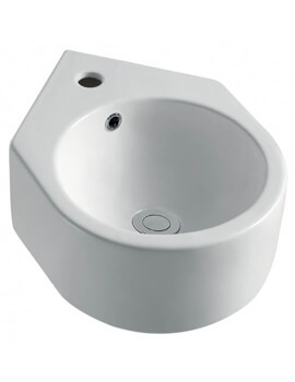 Pura Arco Cloakroom Corner Basin With One Tap Hole