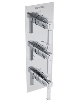 Heritage Somersby Recessed Thermostatic Shower Valve With Twin Stopcocks