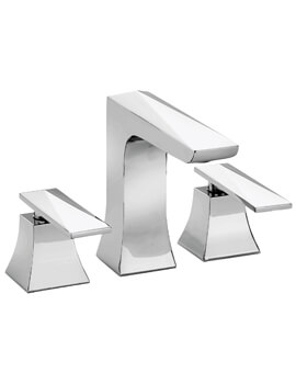 Heritage Hemsby 3 Taphole Basin Mixer Tap With Waste