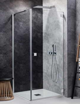 Simpsons Design 800mm Hinged Shower Door - Right Hand