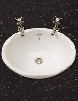 Silverdale Victorian 510 x 385mm Inset Vanity Basin White