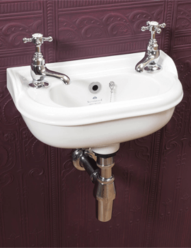 Silverdale Victorian 400 x 215mm Micro Basin 2 Tap Holes