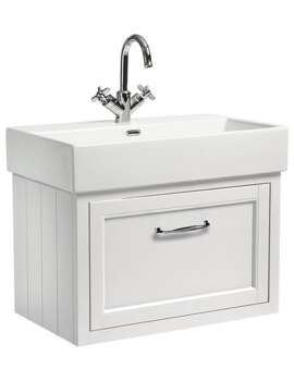 Roper Rhodes Hampton 700mm 1 Drawer Wall Mounted Unit With Basin