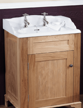 Silverdale Victorian 635 x 485mm Vanity Basin 3 Taphole