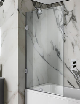 Simpsons Zion 900mm Hinged Bath Screen