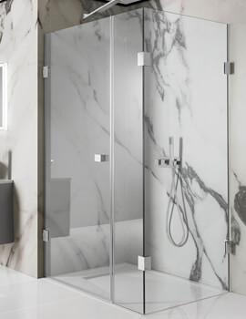 Simpsons Zion Hinged Shower Door 1100mm with Inline Panel