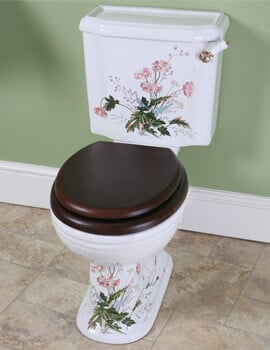Silverdale Victorian Garden 430 x 740mm White Close Coupled Toilet