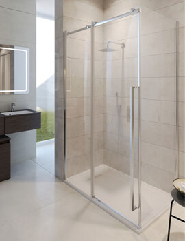Simpsons Pier 1400 x 2000mm Sliding Shower Door