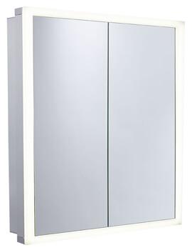 Roper Rhodes Extend Double Door Mirror Cabinet Aluminum