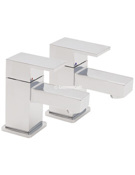 Tre Mercati Edge Pair Of Bath Tap Chrome