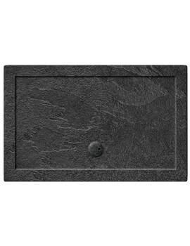 Simpsons Rectangular Grey Slate 35mm Acrylic Shower Tray 1200 x 800mm