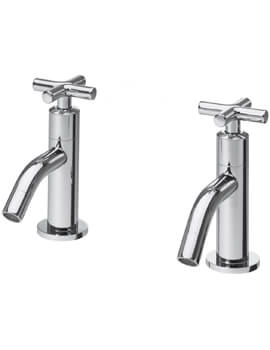 Triton Kensey Pair Of Basin Taps With Slotted Click Clack Waste