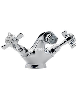 Tre Mercati Imperial Chrome Mono Bidet Mixer Tap With Pop Up Waste