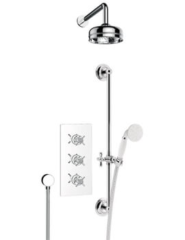 Heritage Dawlish Recessed Thermostatic Valve With Fixed Head And Kit