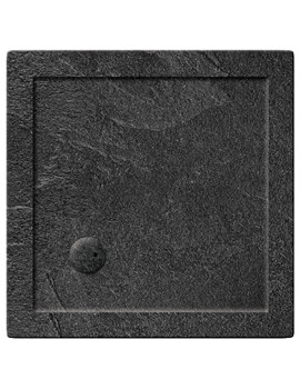 Simpsons Square Grey Slate 35mm Anti-Slip Acrylic Shower Tray 800 x 800mm