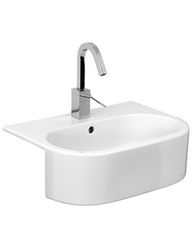 Saneux Uni 540mm Semi Recessed Washbasin