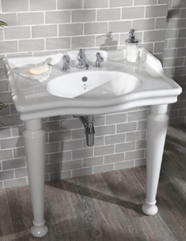 Silverdale Loxley Classic 860 x 600mm White 3 Taphole Basin