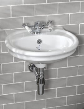 Silverdale Loxley 450 x 390mm White 1 Tap Hole Cloakroom Basin
