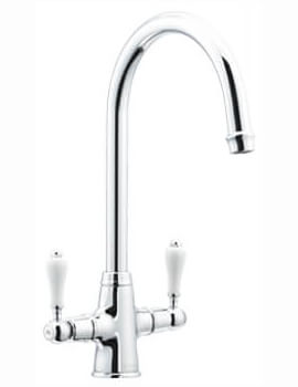 Astracast Colonial Twin Lever Kitchen Sink Mixer Tap