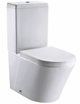 Pura Arco 660mm Rimless Closed Back Close Coupled WC Pan With Cistern