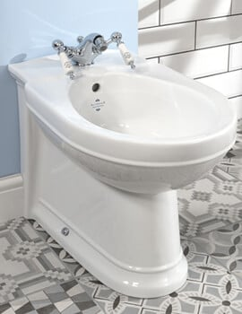 Silverdale Damea 365 x 570mm Back To Wall 1 Taphole Bidet